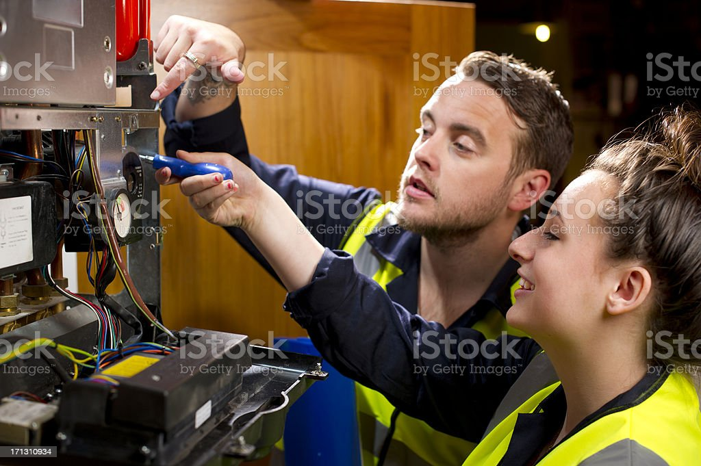 female plumber royalty-free stock photo