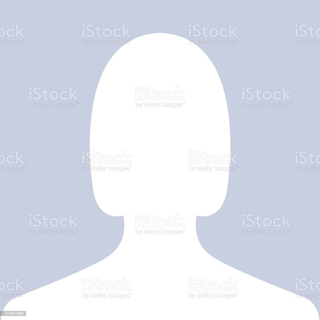 Female portrait icon as avatar or profile picture stock photo