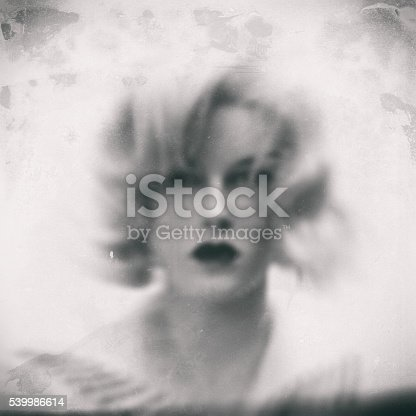 istock Female portrait. Old style photo 539986614