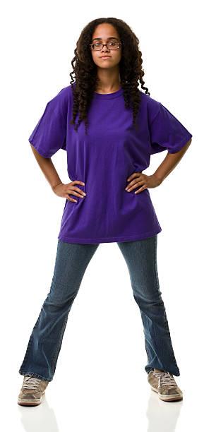 weibliche porträt - geek t shirts stock-fotos und bilder