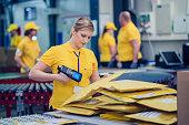 Female postal worker