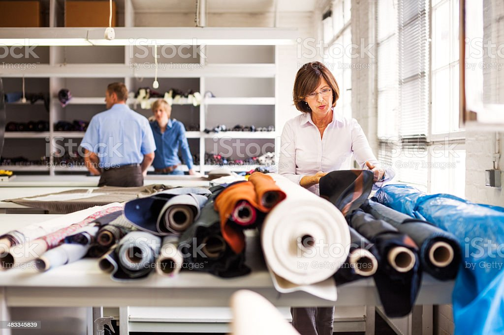 female professional designer at work stock photo