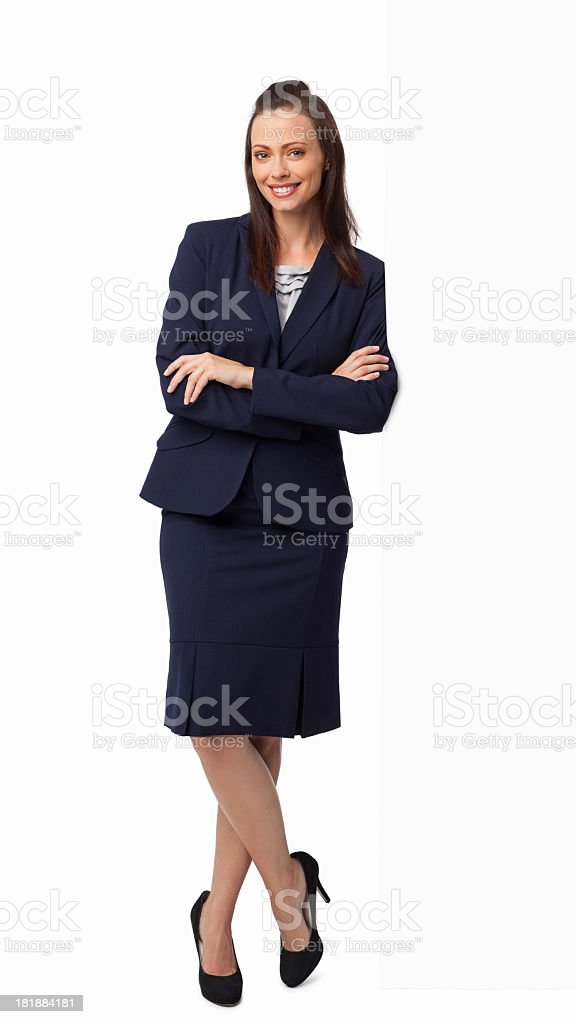 Female Professional Standing Arms Crossed - Isolated stock photo