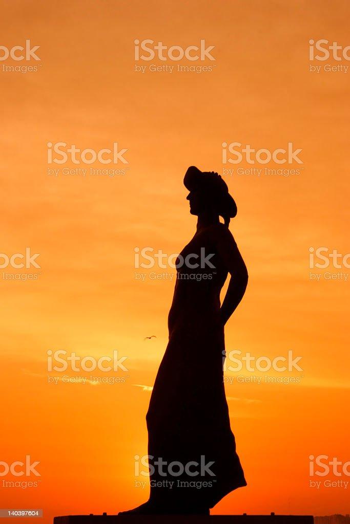 Female Profile royalty-free stock photo