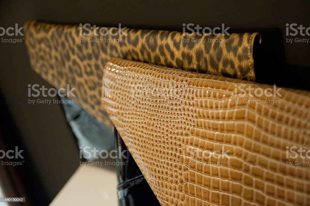 Female purse with animal print stock photo