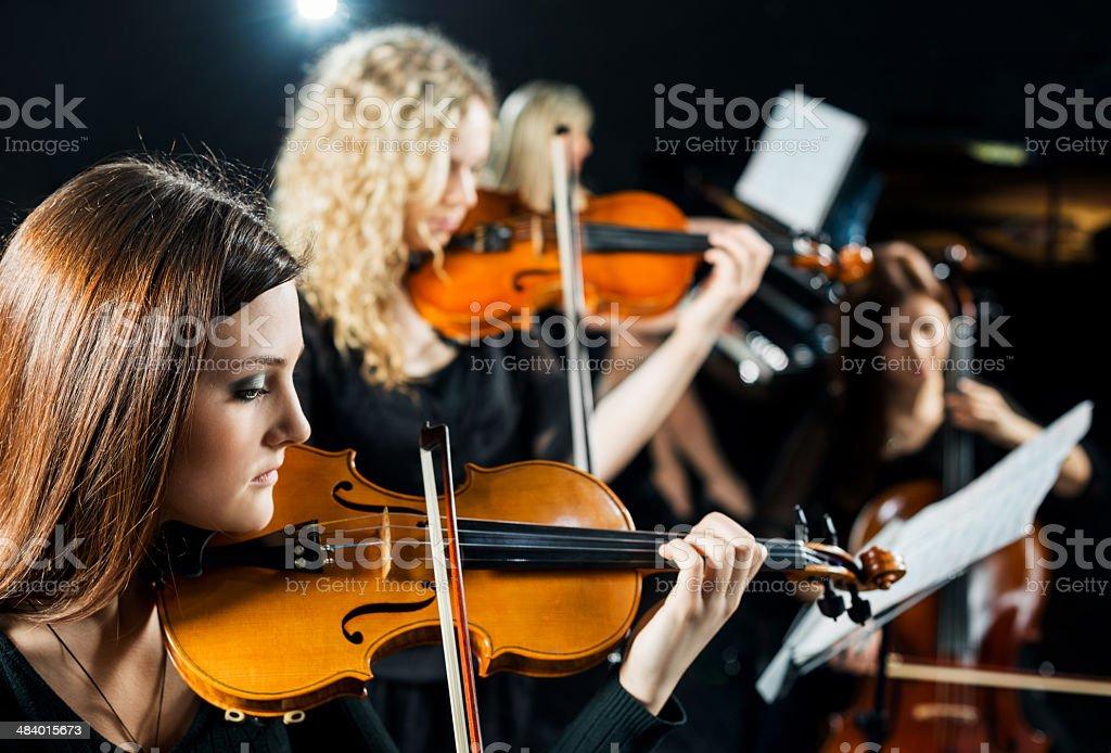 Female quartet. royalty-free stock photo