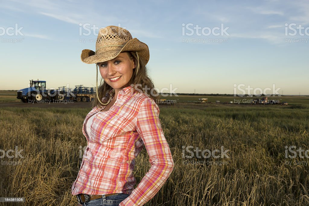 Female Rancher royalty-free stock photo
