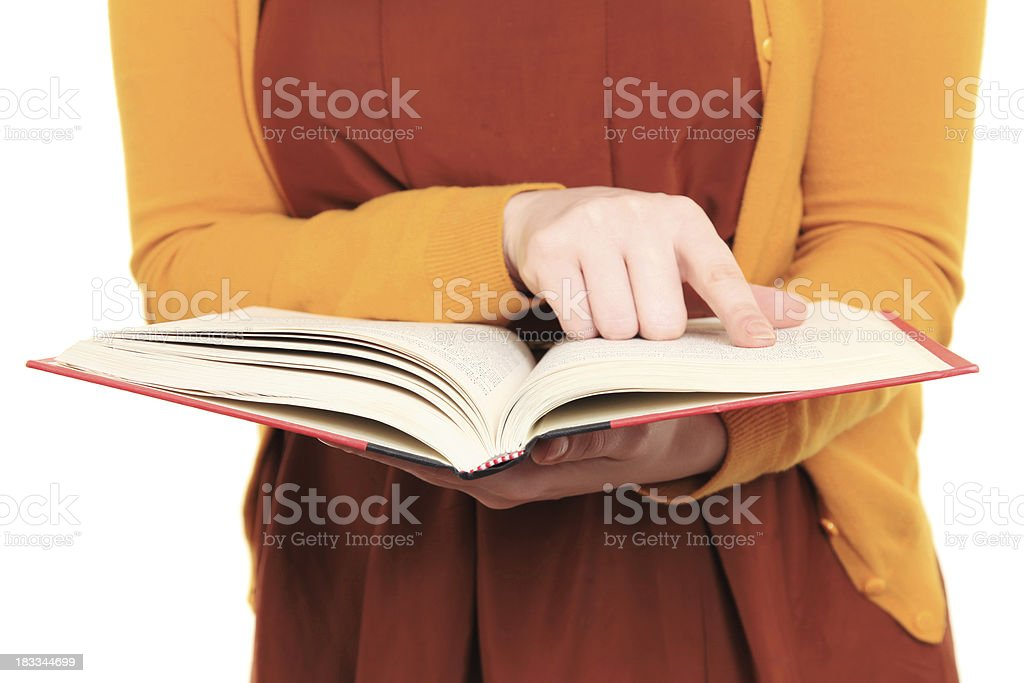 Female reading royalty-free stock photo