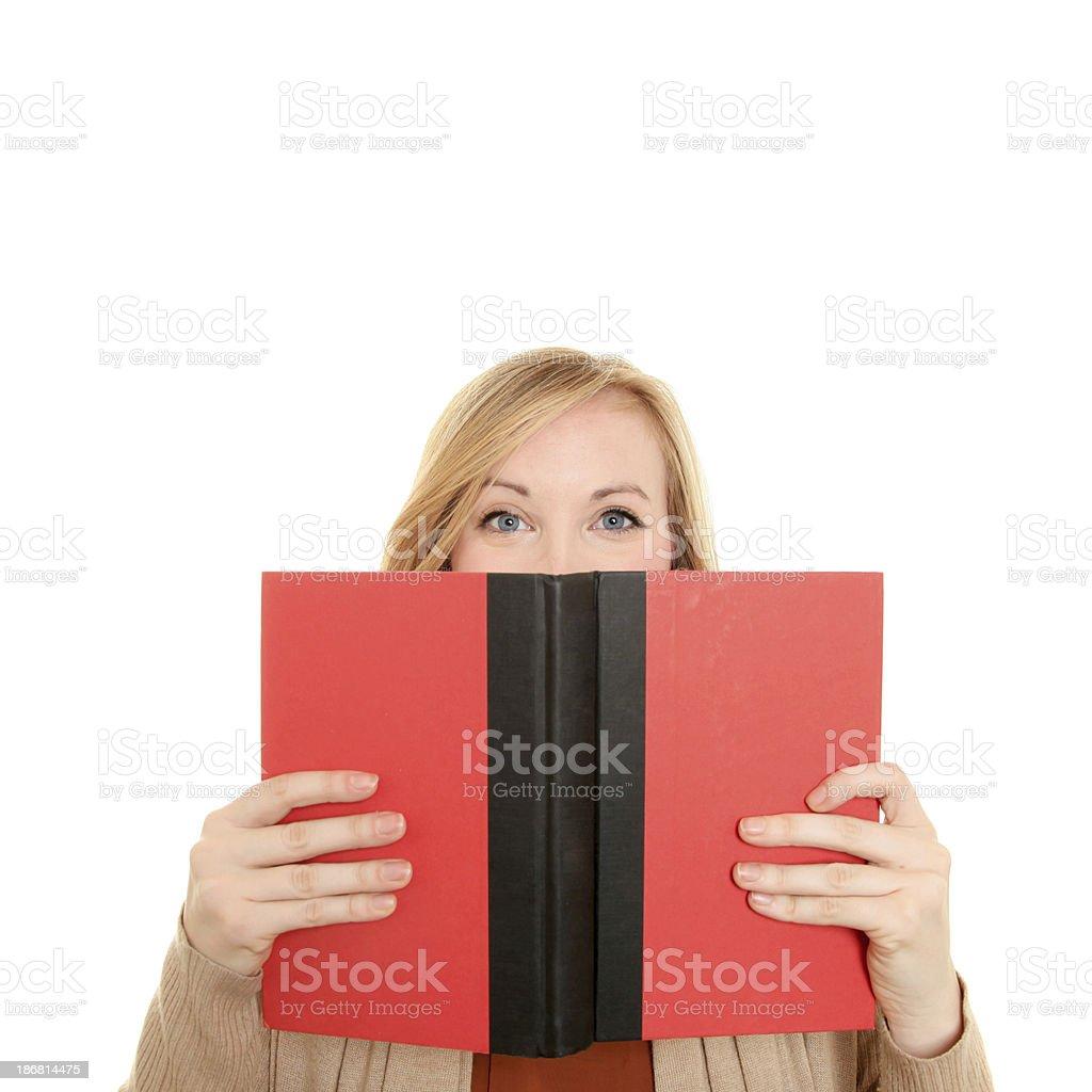Female reading royalty-free stock photo