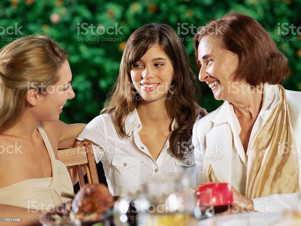 Female relatives chatting royalty-free stock photo