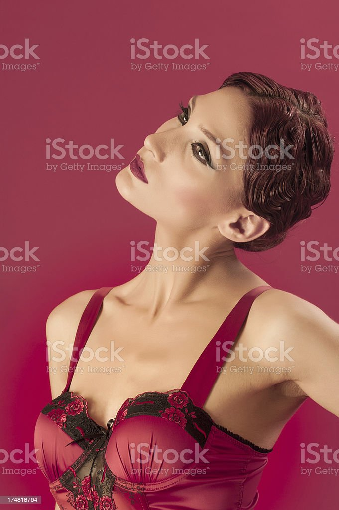 Female retro style royalty-free stock photo
