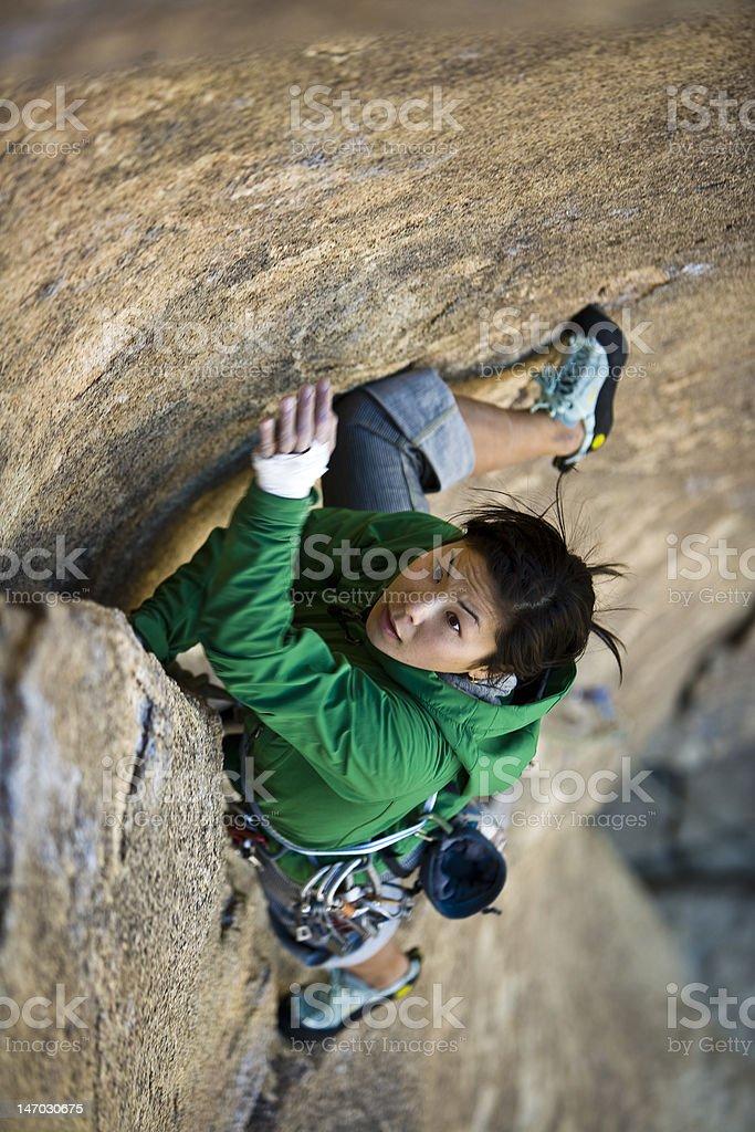 Female rock climber. royalty-free stock photo