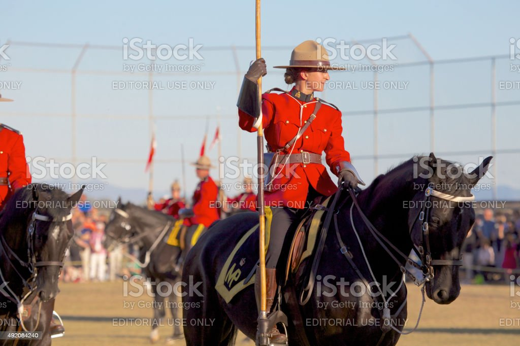 RCMP, Female Royal Canadian Mounted Police officer stock photo