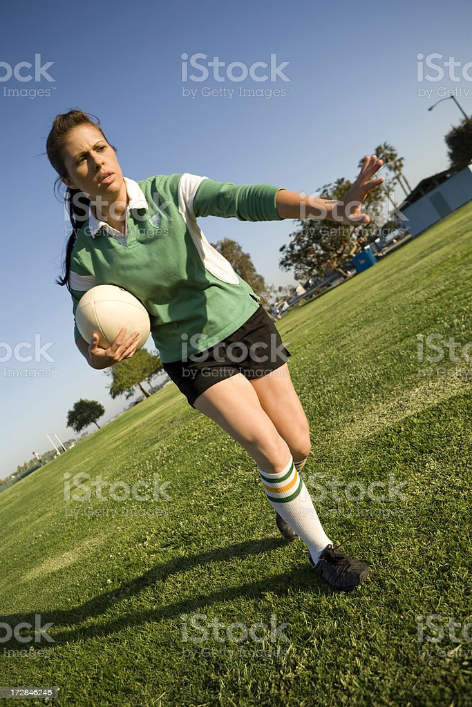 Female Rugby Player royalty-free stock photo
