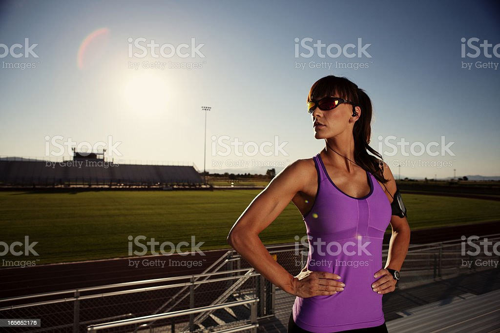 Weibliche Läufer Lizenzfreies stock-foto