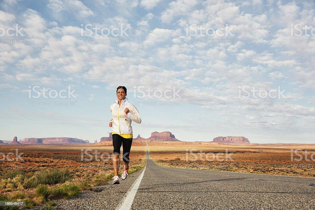 Female Runner stock photo