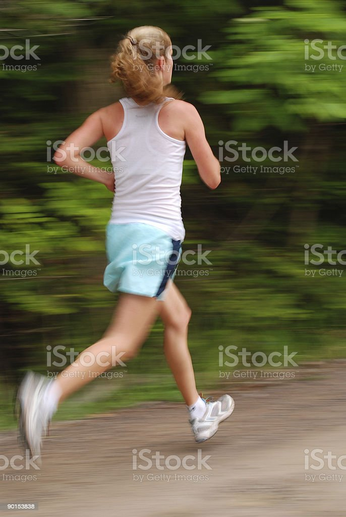 Female Runner with Motion Blur royalty-free stock photo