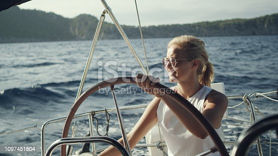 Sailing on sea. Vacations activity