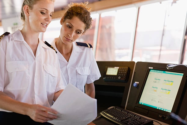 Female sailors doing their work  sailor stock pictures, royalty-free photos & images
