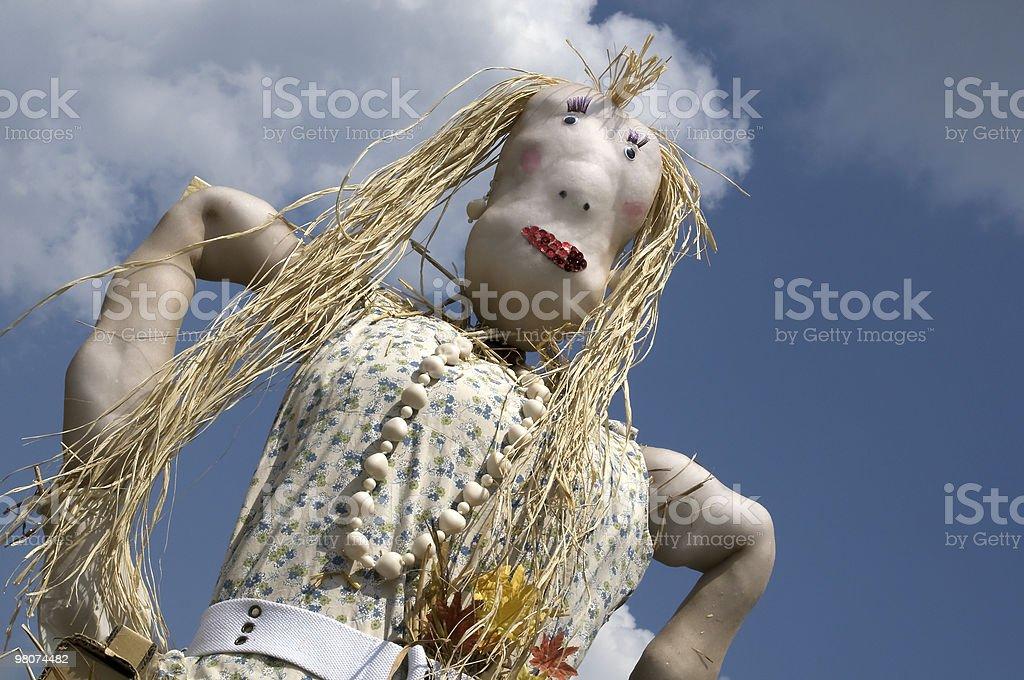 Female  scarecrow with attitude royalty-free stock photo