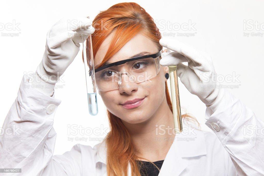 Female scientist royalty-free stock photo