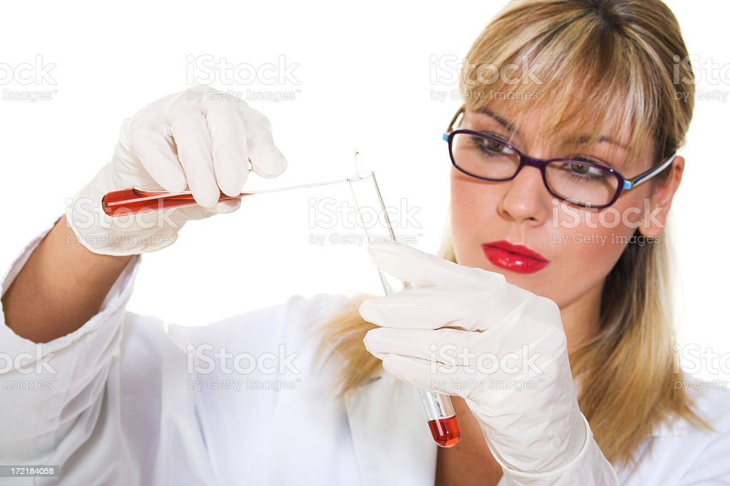 Female Scientist Researcher in the laboratory royalty-free stock photo