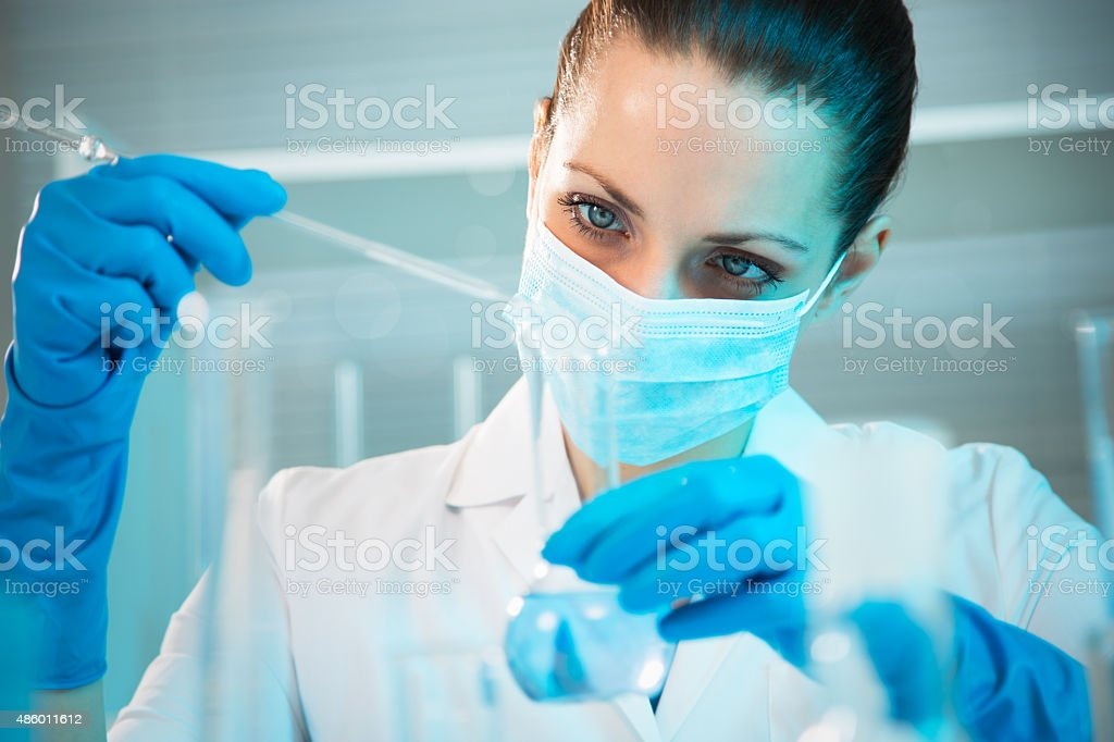 Female scientist working in laboratory royalty-free stock photo