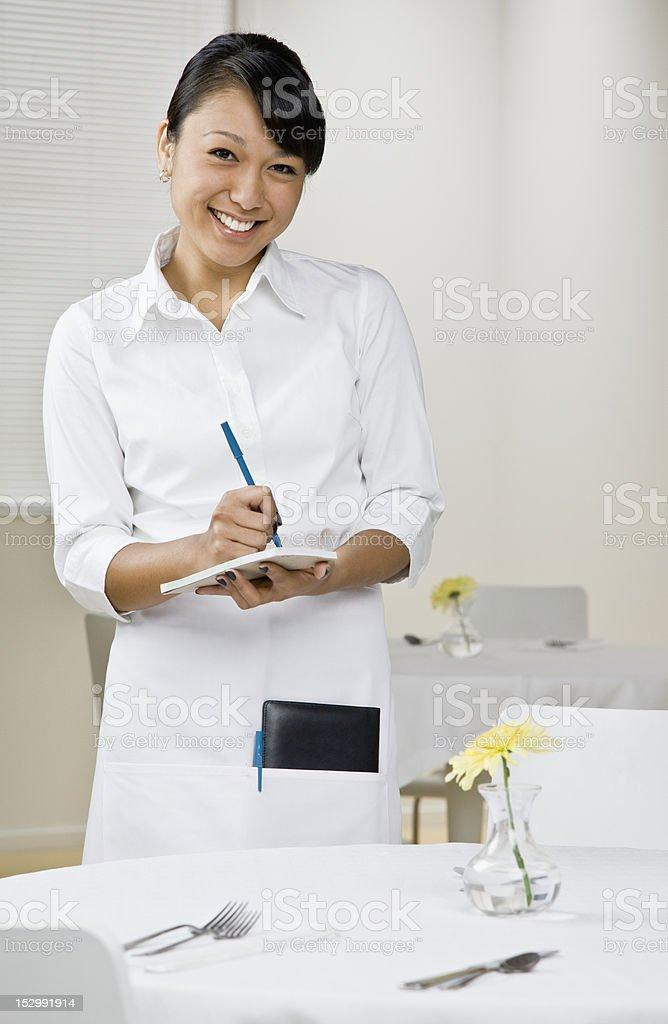 Female Server royalty-free stock photo