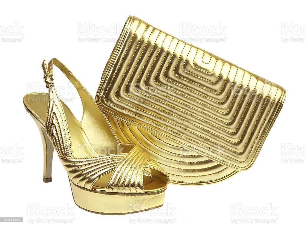 Female shoes and handbag royalty-free stock photo