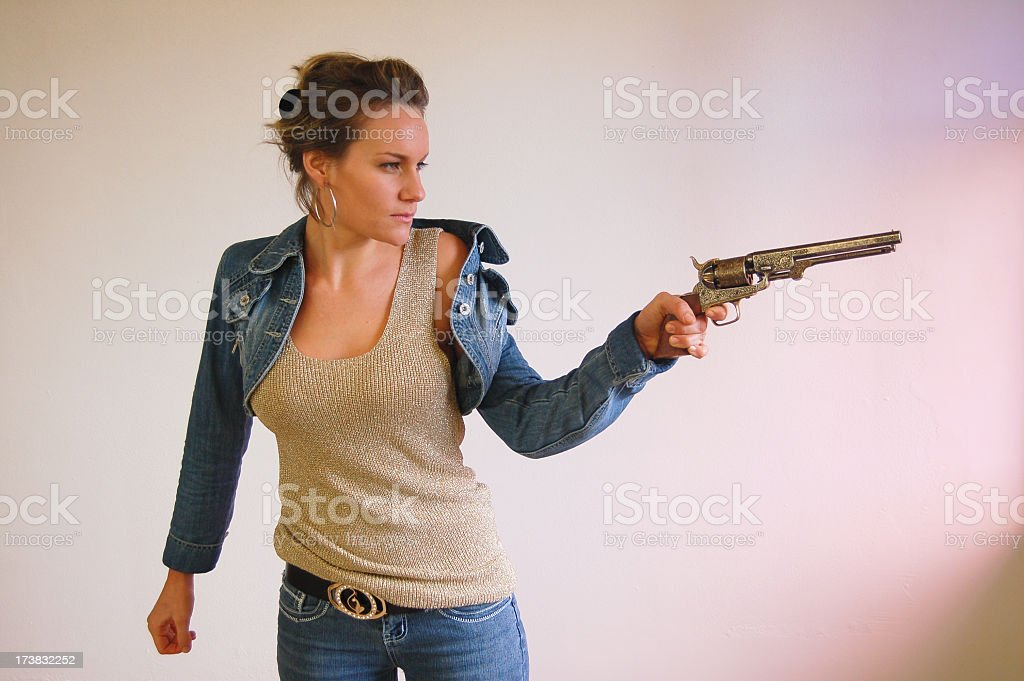 Female Shooter stock photo