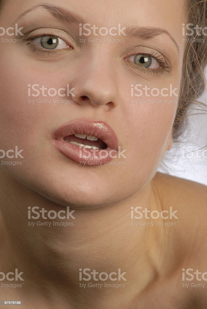 Femme vue photo libre de droits