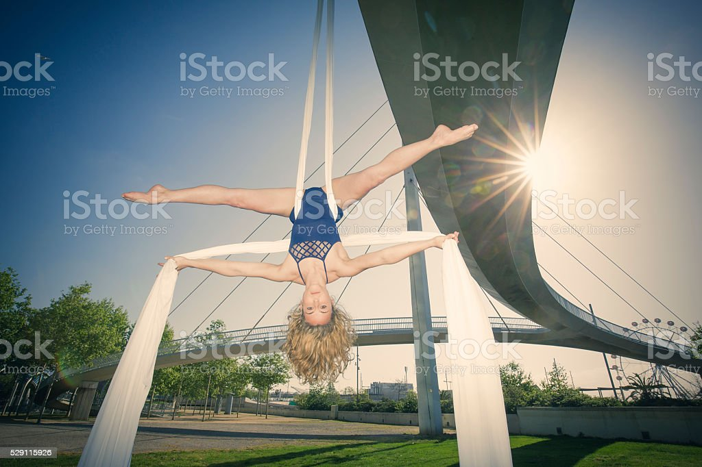Hembra Aérea de seda bailarina - foto de stock