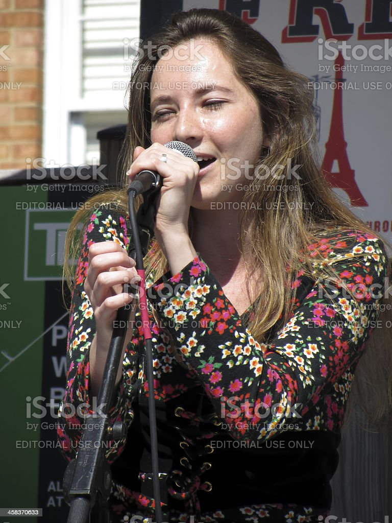 Female Singer at the Festival royalty-free stock photo