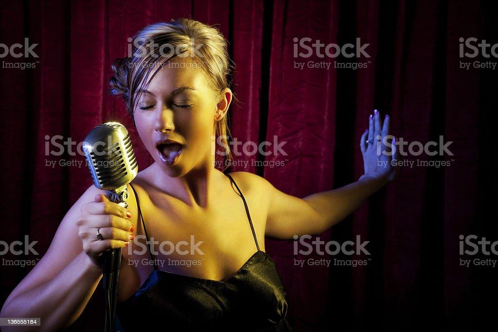 Female Singer stock photo
