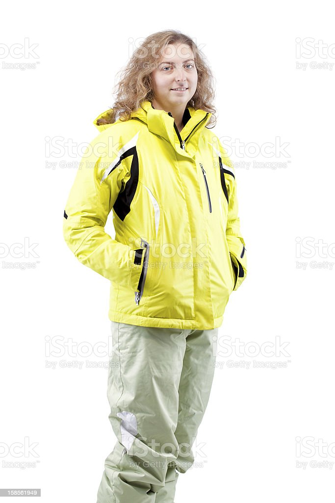 여성 스키어 royalty-free 스톡 사진