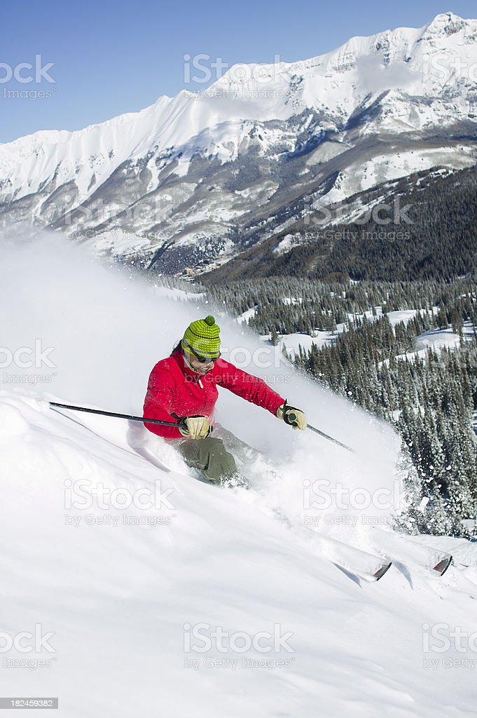 Female skier royalty-free stock photo