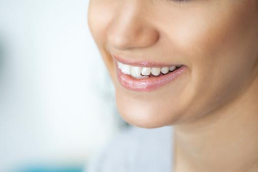 female smile stock photo