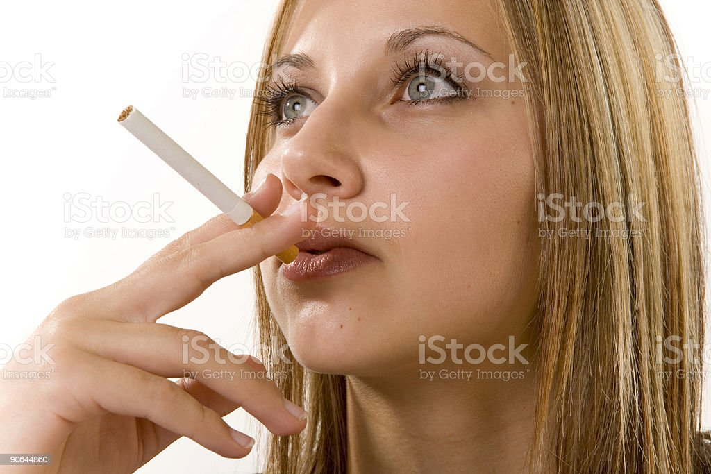 Female Smoking royalty-free stock photo