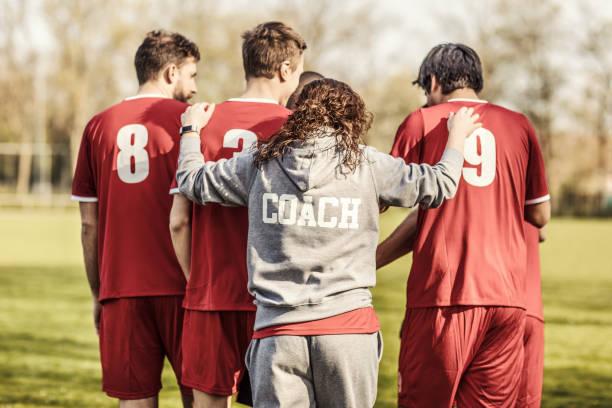 Female Soccer Coach stock photo