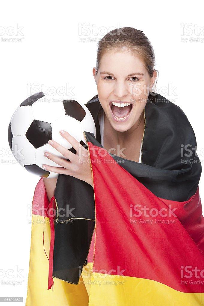 fan di calcio femminile foto stock royalty-free