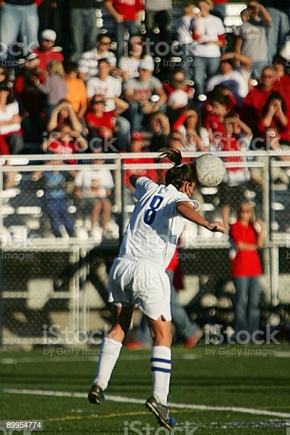 Female soccer player heads ball with spectators and copy space picture id89954774?b=1&k=6&m=89954774&s=612x612&h=bou y53g7lzghads6tbwwgtqv2hajakhp53djwbww e=