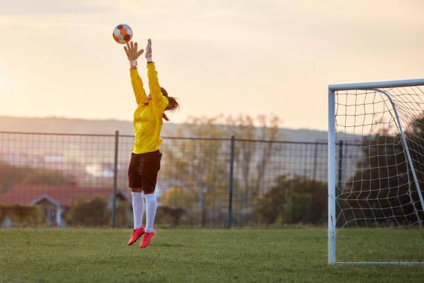 Female Soccer Player stock photo