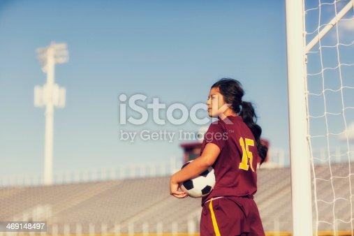 istock Female Soccer Player 469148497