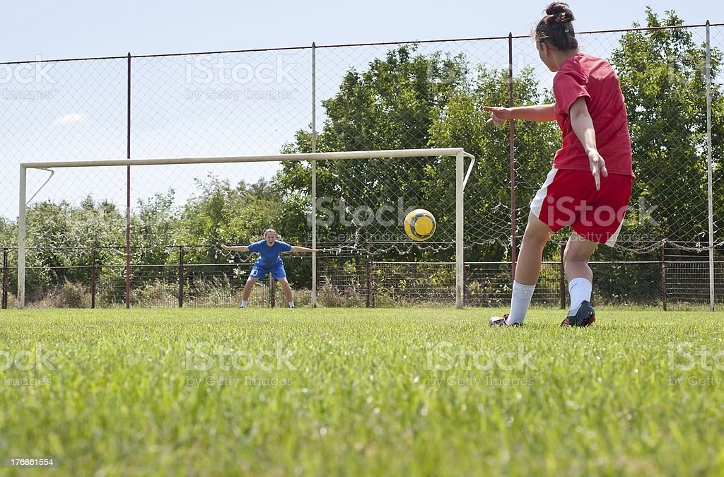 Female Soccer Players stock photo