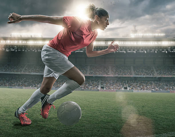 female soccer superstar - soccer player stock photos and pictures