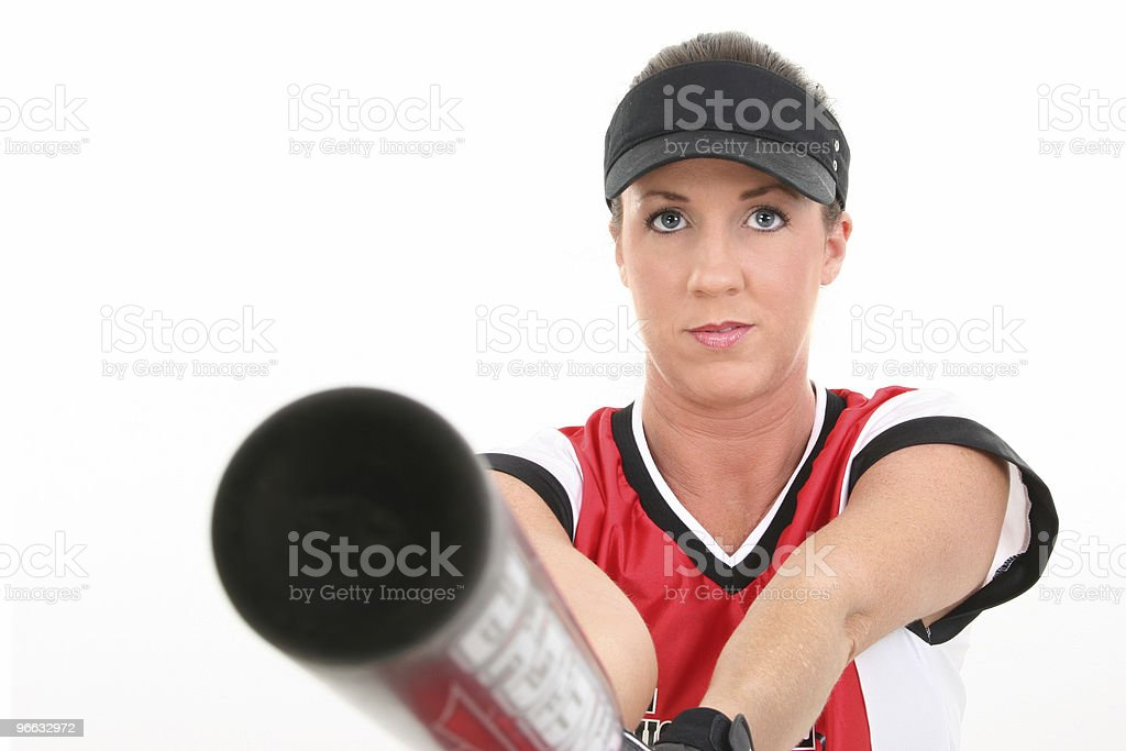 Female Softball Player royalty-free stock photo
