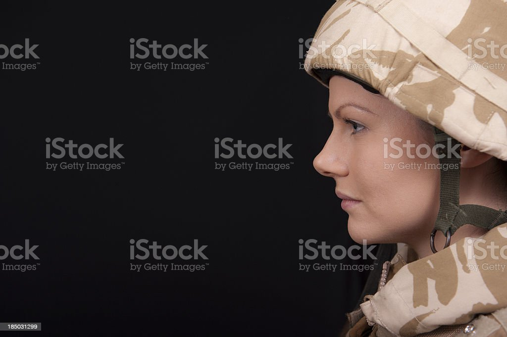 Female Soldier stock photo