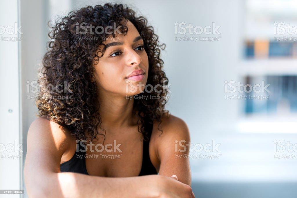 Female Spokesperson stock photo