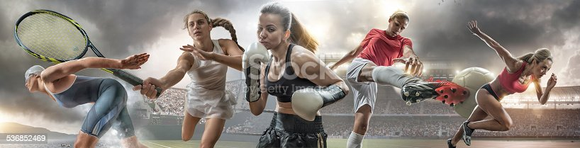 istock Female Sports Action Heroes 536852469