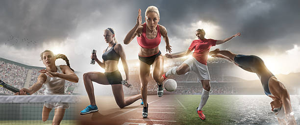 Feminino estrelas de esportes e de ação - foto de acervo